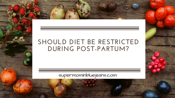 post partum diet
